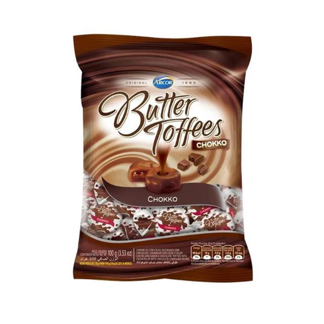 Bala Recheada Arcor Butter Toffees Chokko 100g