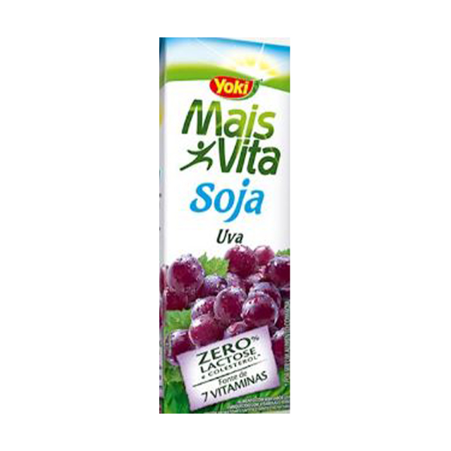 Bebida de Soja Yoki Mais Vita Uva 200ml