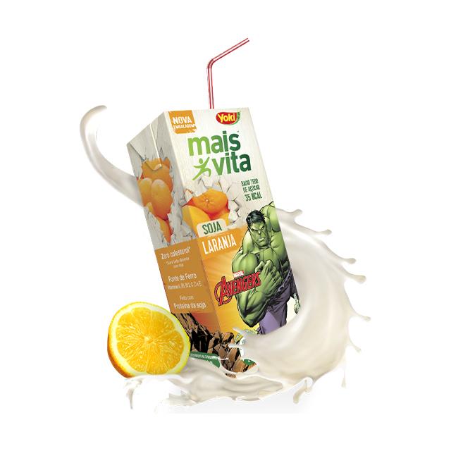 Bebida de Soja Yoki Mais Vita Laranja 200ml