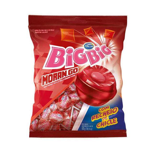 Pirulito Arcor Big Big Morango 600g | Com 50 Unidades