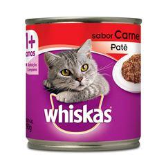 Ração Úmida Para Gatos Whiskas Carne Lata 290g