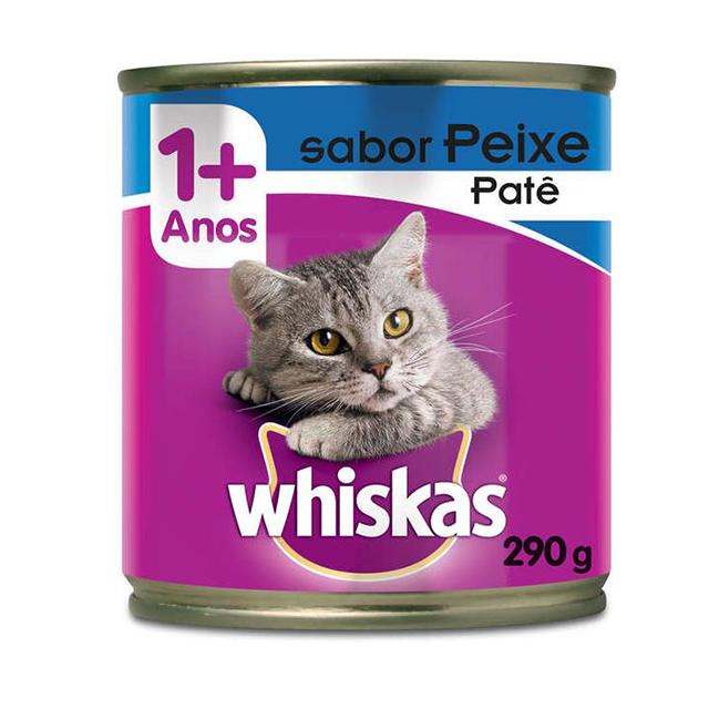 Ração Úmida para Gatos Whiskas Peixe Lata 290g