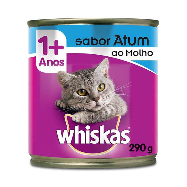 Ração Úmida para Gatos Whiskas Atum ao Molho Lata 290g