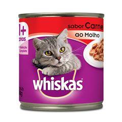 Ração Úmida Para Gatos Whiskas Carne Ao Molho Lata 290g