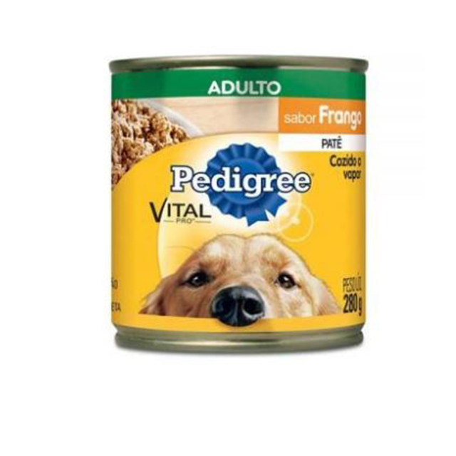 Ração Úmida para Cães Pedigree Frango Lata 280g