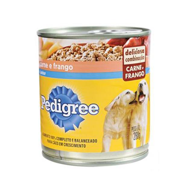 Ração Úmida Para Cães Pedigree Filhotes Carne E Frango Lata 280g