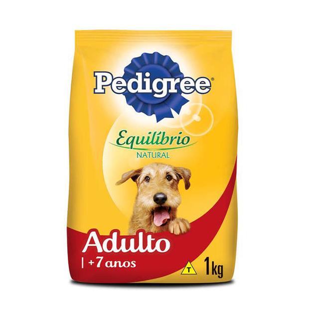 Ração para Cães Pedigree Equilíbrio Natural Adulto + 7 Anos 1kg