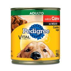 Ração Úmida Para Cães Pedigree Carne Ao Molho Lata 290g