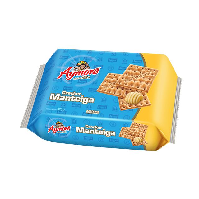 Biscoito Cream Cracker Aymoré Manteiga Multpack 375g
