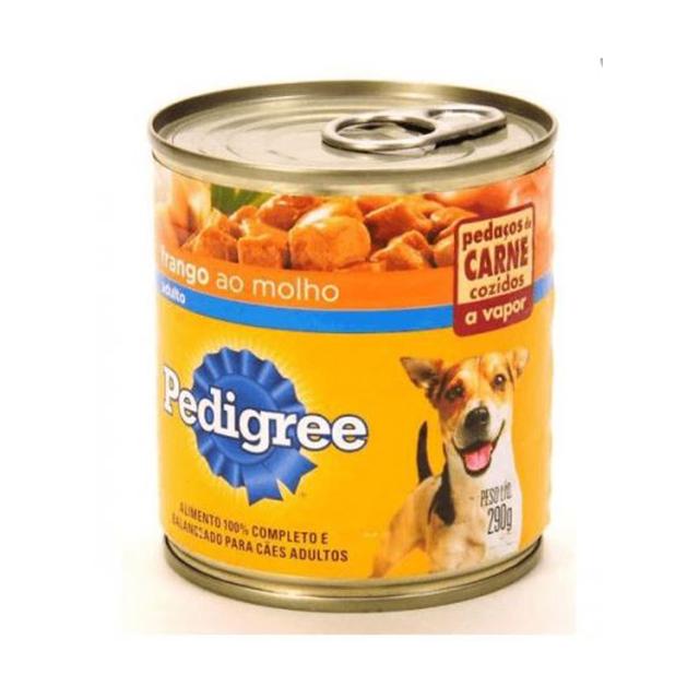 Ração Úmida para Cães Pedigree Frango ao Molho Lata 290g