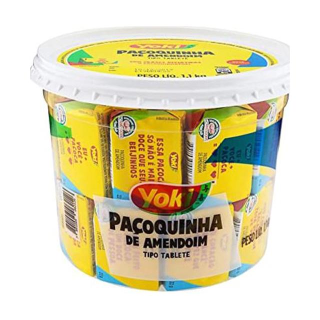 Paçoquinha Yoki Tablete 1,1kg | Com 50 Unidades