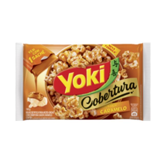 Pipoca para Micro-Ondas Yoki Cobertura Caramelo 160g