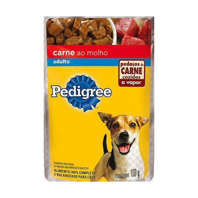 Ração Úmida para Cães Pedigree Raças Médias e Grandes Carne Sachê 100g
