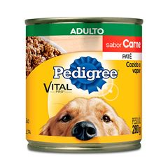 Ração Úmida Para Cães Pedigree Carne Lata 280g