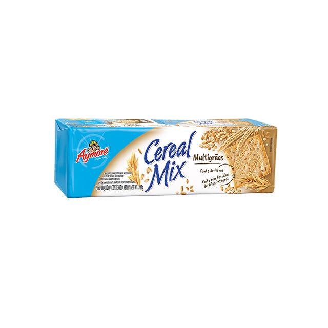 Biscoito Cream Cracker Aymoré Cereal Mix 7 Grãos 200g