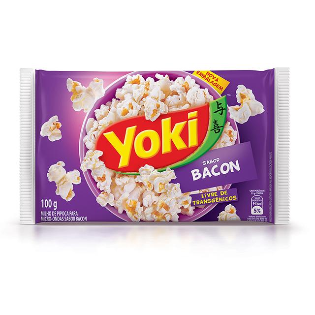 Pipoca para Micro-Ondas Yoki Bacon 100g