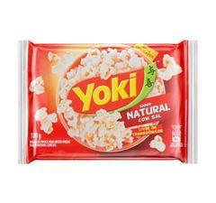 Pipoca Para Micro-Ondas Yoki Natural Com Sal 100g