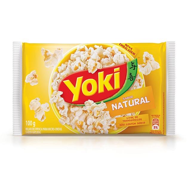 Pipoca para Micro-Ondas Yoki Natural 100g
