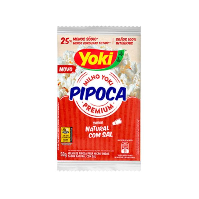 Pipoca para Micro-Ondas Yoki Natural com Sal 50g