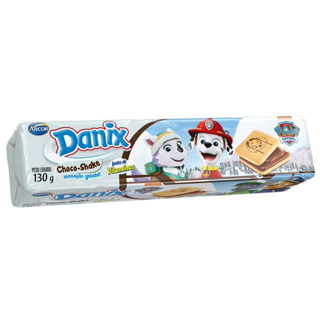Biscoito Recheado Arcor Danix Choco Shaker 130g