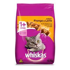 Ração Para Gatos Whiskas Frango E Leite 1kg
