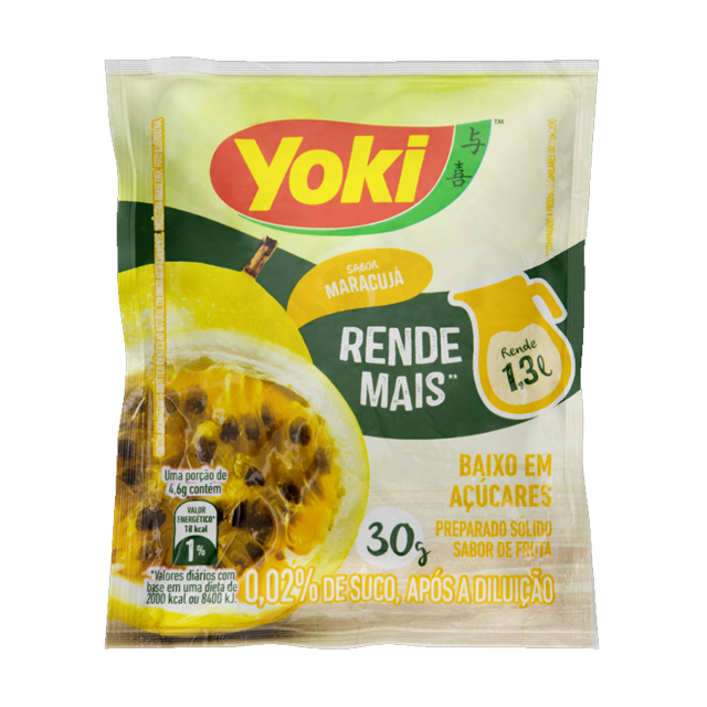 Refresco Yoki Maracujá 15x30g