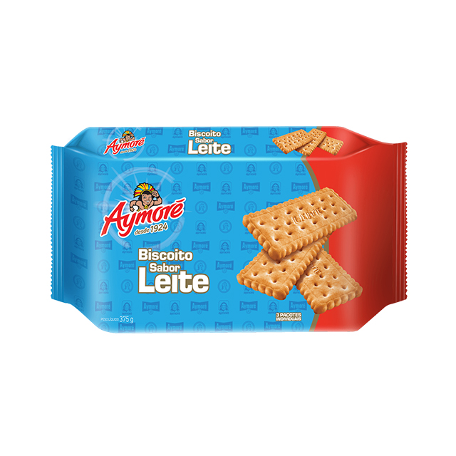 Biscoito de Leite Aymoré Multpack 375g