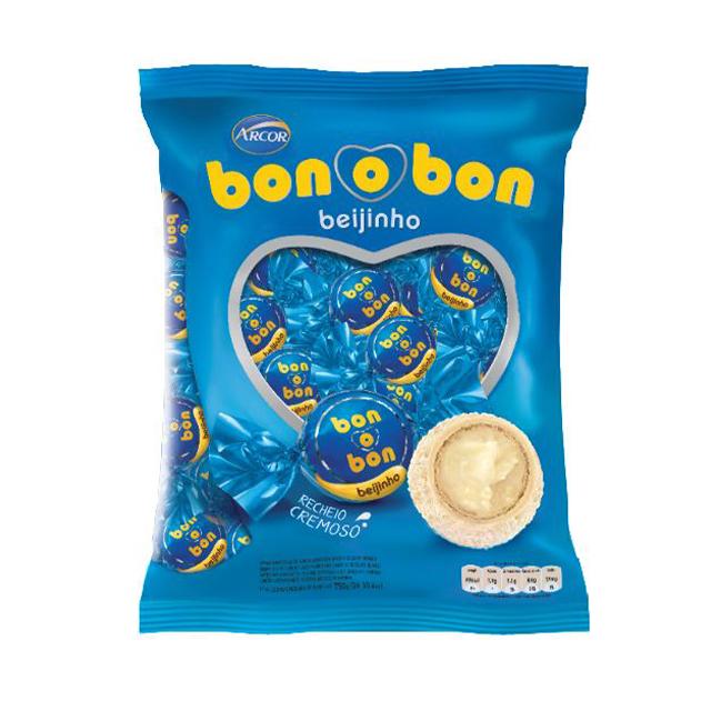 Bombom Arcor Bon o Bon Beijinho 750g