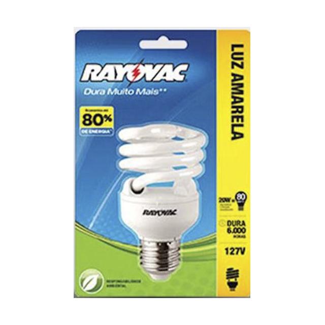 Lâmpada Rayovac Espiral Branca 20W 127V