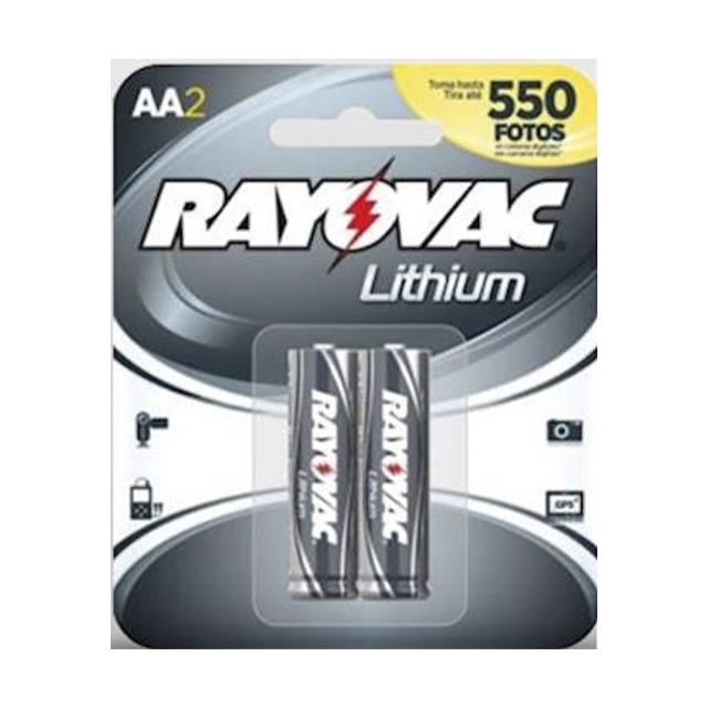 Pilha Rayovac Lithium Pequena AA2   Com 2 Unidades