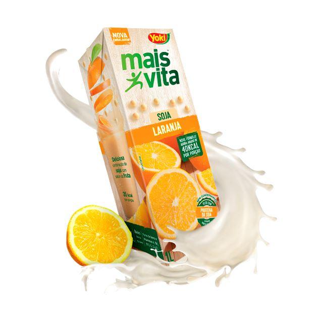 Bebida De Soja Yoki Mais Vita Laranja 1l