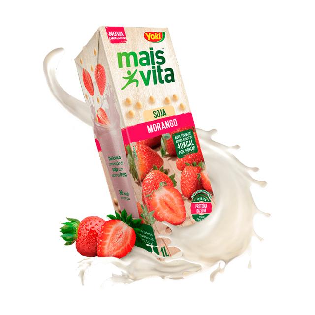 Bebida de Soja Yoki Mais Vita Morango 1L