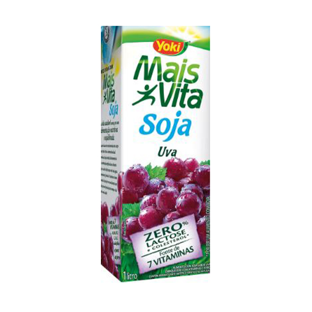 Bebida de Soja Yoki Mais Vita Uva 1L