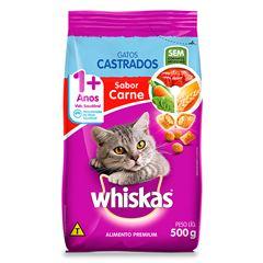 Ração Para Gatos Whiskas Castrados Carne 500g