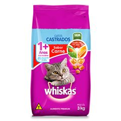 Ração Para Gatos Whiskas Castrados Carne 3kg