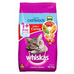 Ração Para Gatos Whiskas Castrados Carne 10,1kg