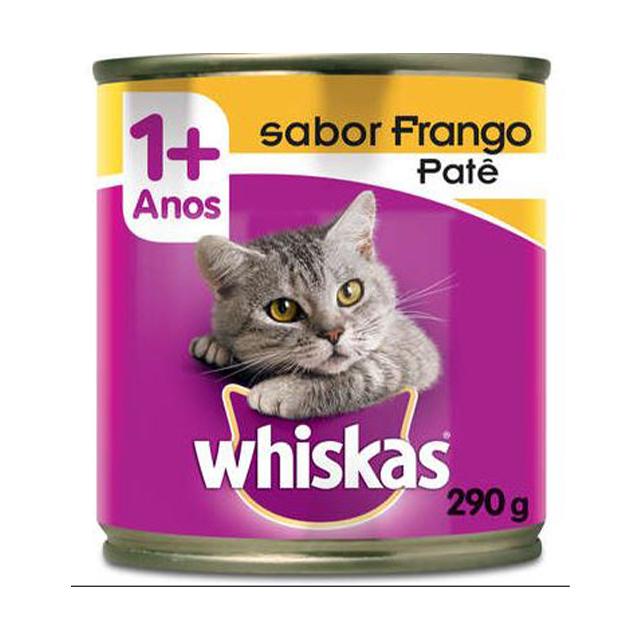 Ração Úmida para Gatos Whiskas Frango Lata 290g
