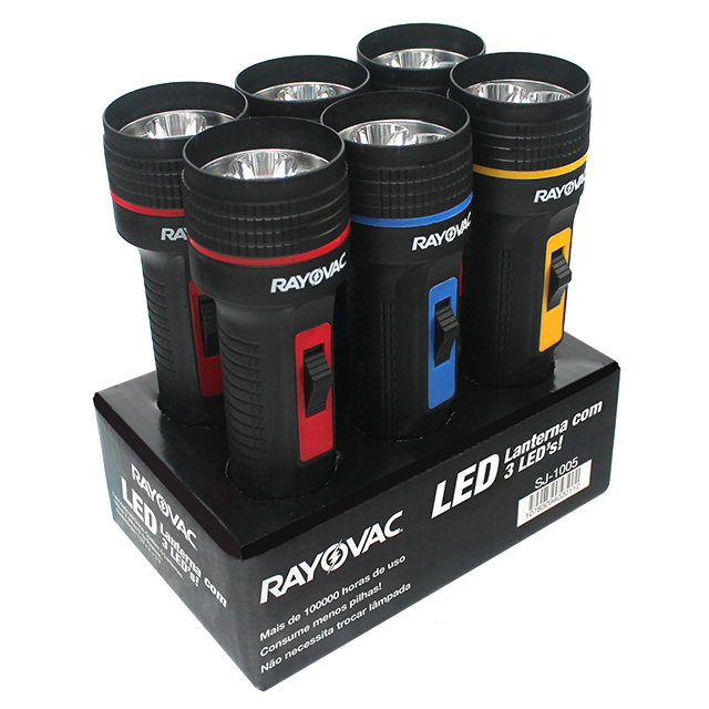 LANTERNA RAYOVAC TRI LEDS PEQUENA | REF: SJ1006