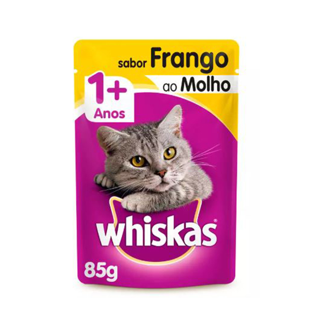 Ração Úmida para Gatos Whiskas Frango Sachê 85g