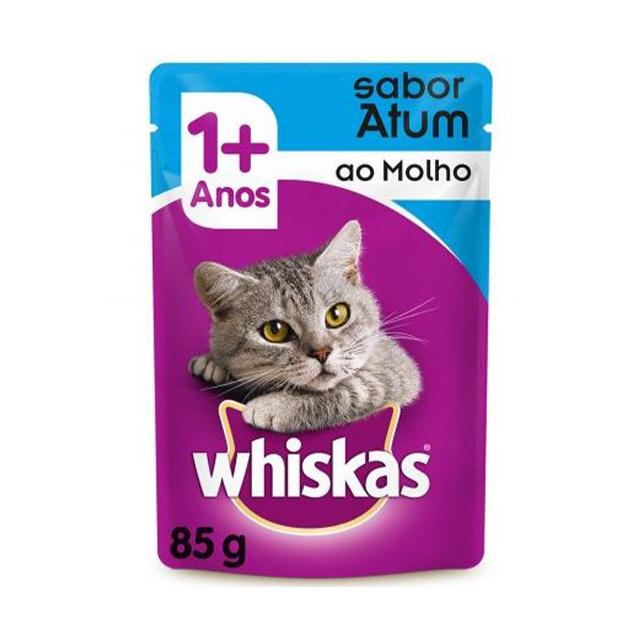 Ração Úmida para Gatos Whiskas Atum Sachê 85g
