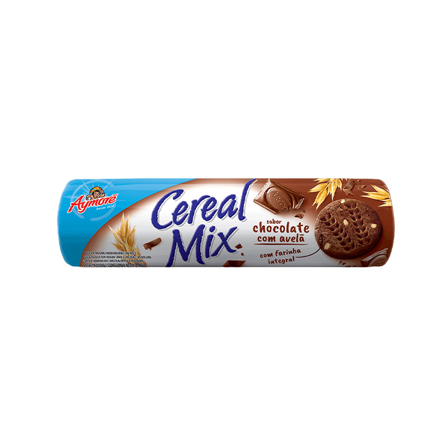 Biscoito Integral Aymoré Cereal Mix Chocolate e Avelã 200g