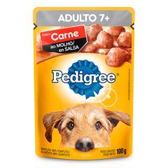 Ração Úmida Para Cães Pedigree + 7 Anos Carne Sachê 100gr