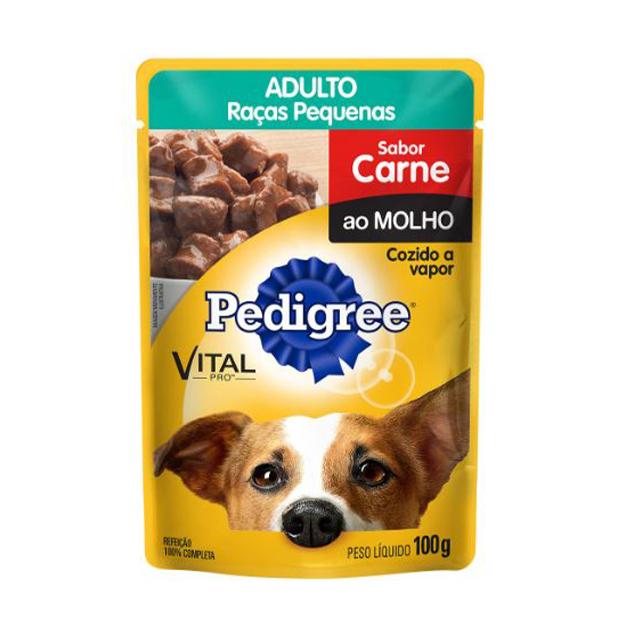 Ração Úmida para Cães Pedigree Raças Pequenas Carne Sachê 100g