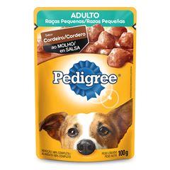 Ração Úmida Para Cães Pedigree Raças Pequenas Cordeiro Sachê 100g