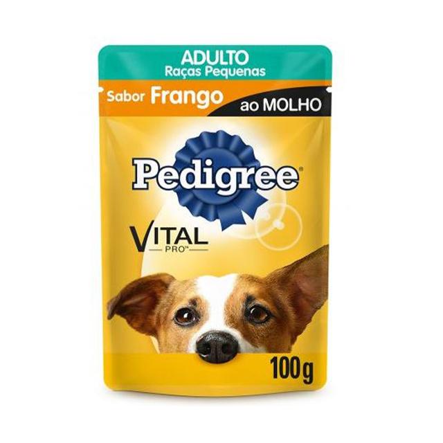 Ração Úmida para Cães Pedigree Raças Pequenas Frango Sachê 100g