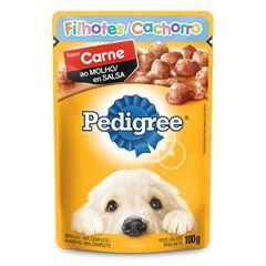 Ração Úmida Para Cães Pedigree Filhotes Carne Sachê 100g