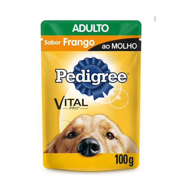 Ração Úmida para Cães Pedigree Raças Médias e Grandes Frango Sachê 100g