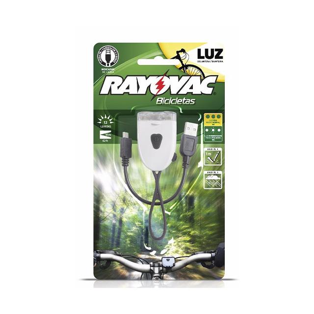 Lanterna Recarregável Rayovac para Bicicleta Frontal Usb