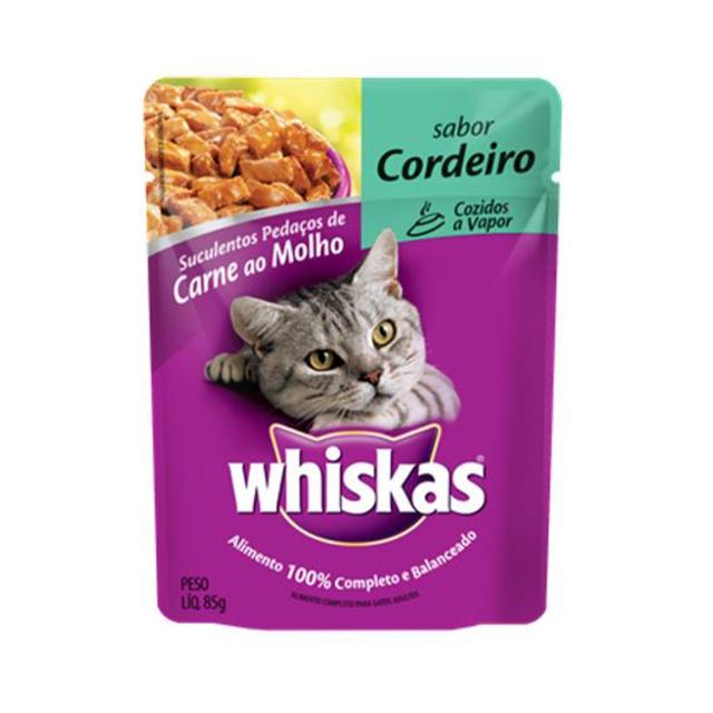 Ração Úmida para Gatos Whiskas Cordeiro Sachê 85g