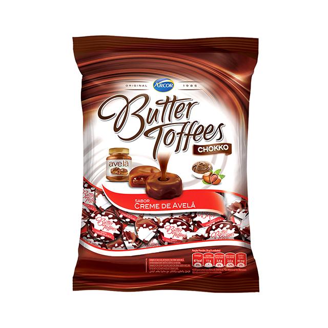 Bala Recheada Arcor Butter Toffees Creme De Avelã 100g